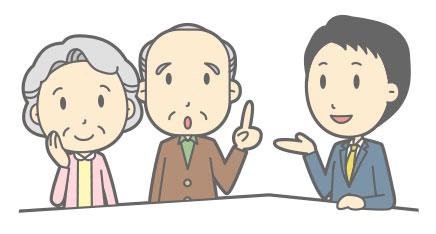シニアの相談を聞くサンクス大阪スタッフ